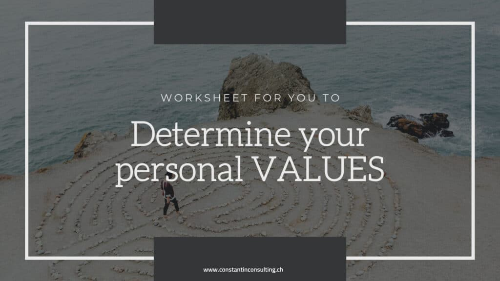 Determine your personal values with the worksheet