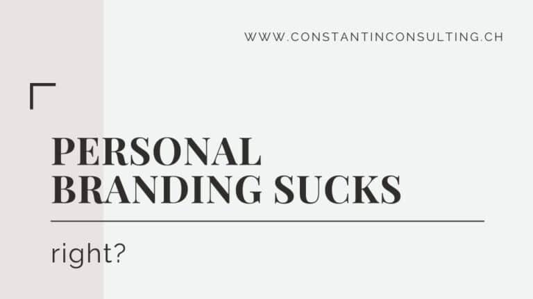 Personal Branding sucks