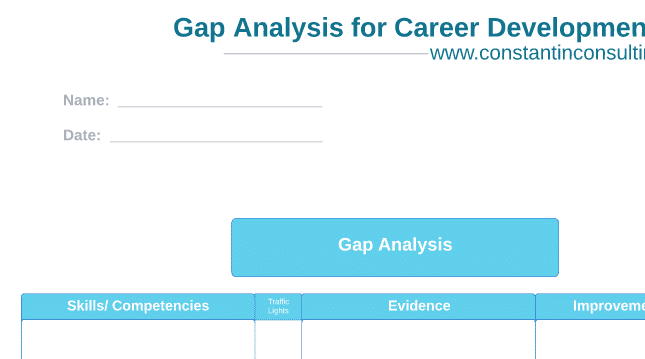 Gap Analysis Template Constantin Consulting